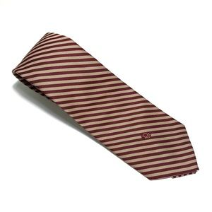 Christian Dior Brown Striped Tie 54Lx3W